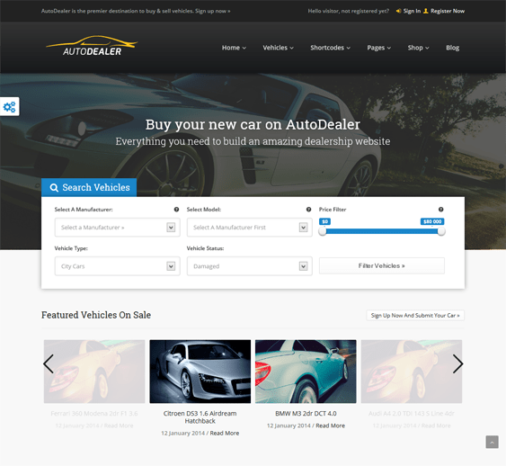 autodealer car dealership wordpress themes