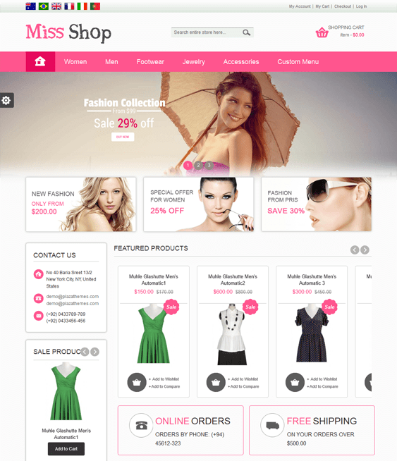 miss shop bootstrap magento theme