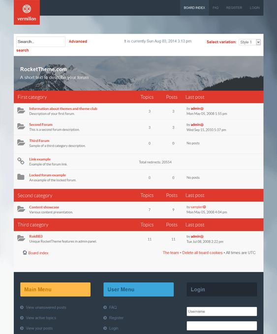 vermilion responsive phpbb3 themes