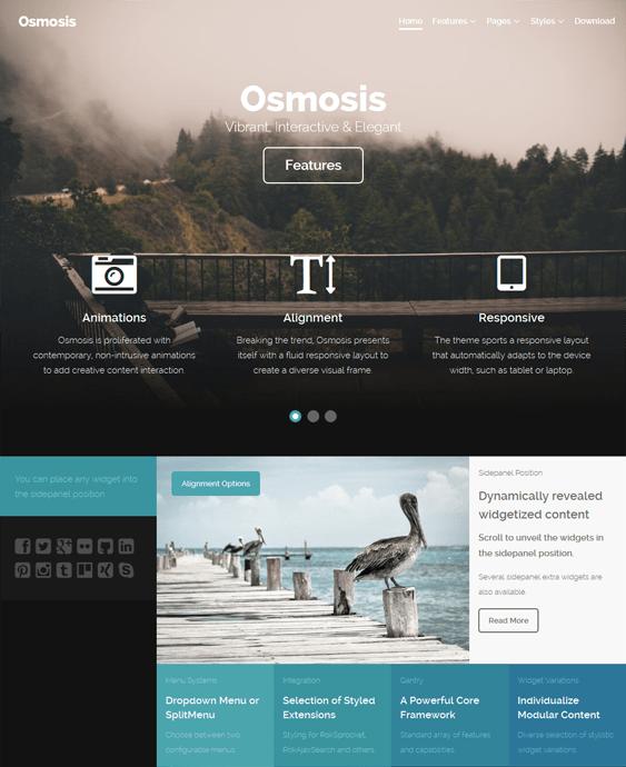 osmosis parallax wordpress theme