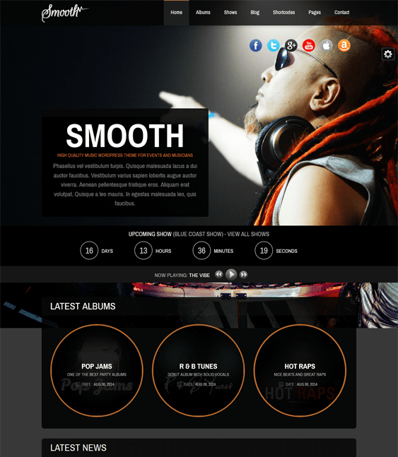 smooth dark wordpress theme
