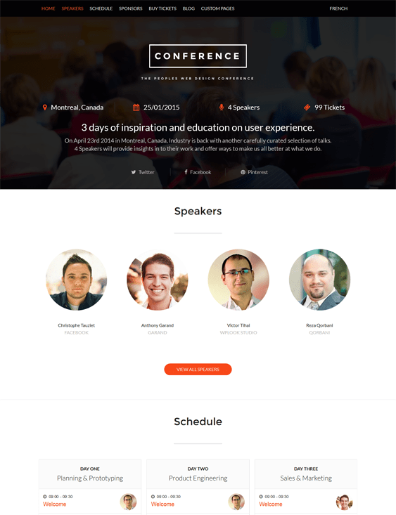 conference wordpress theme for events