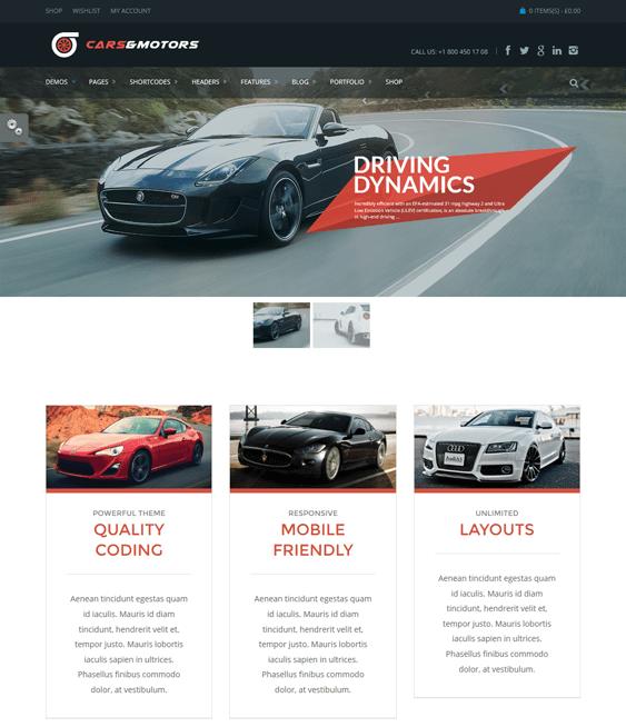 marine car vehicle automotive wordpress theme