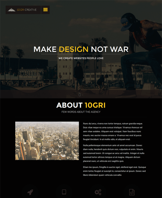 10gricreative parallax drupal theme