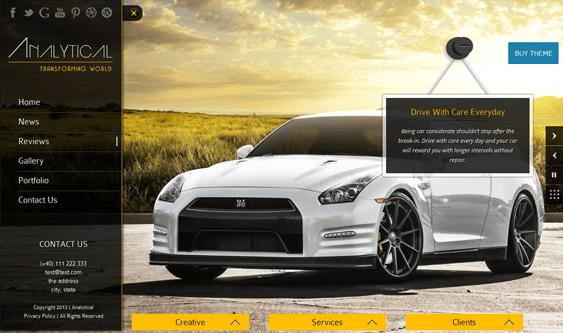 analytical car vehicle automotive wordpress theme