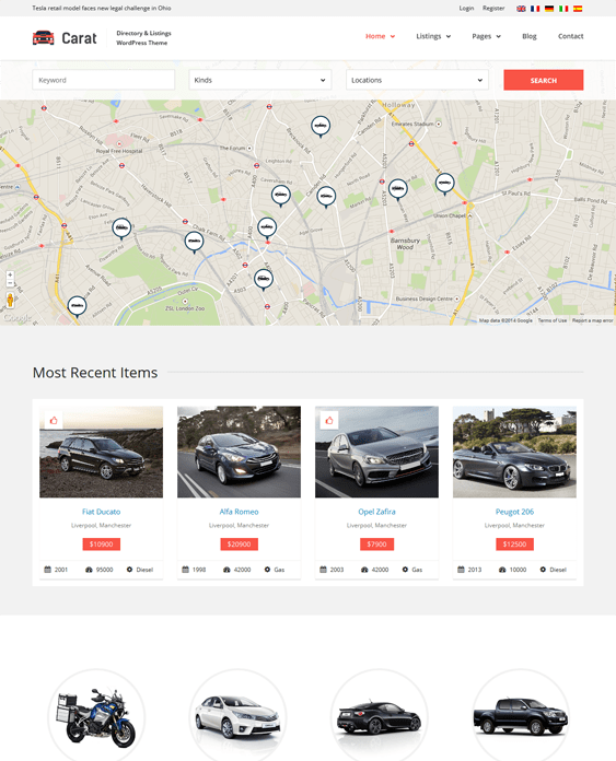 carat car vehicle automotive wordpress theme