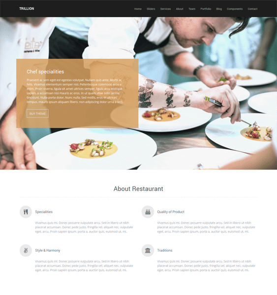 More of the best wordpress themes for restaurants down