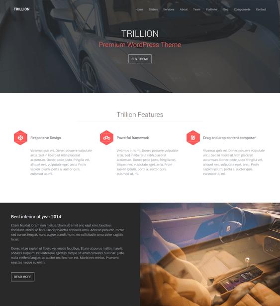 trillion car vehicle automotive wordpress theme