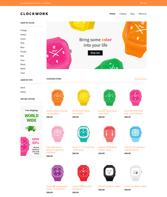 classic watch jewelry shopify theme