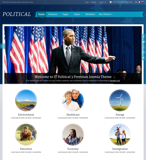 it political 3 political joomla templates