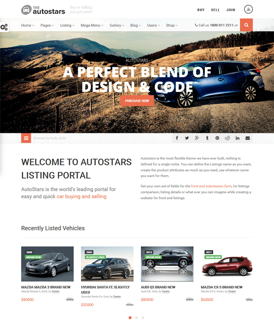 auto stars car vehicle automotive wordpress theme