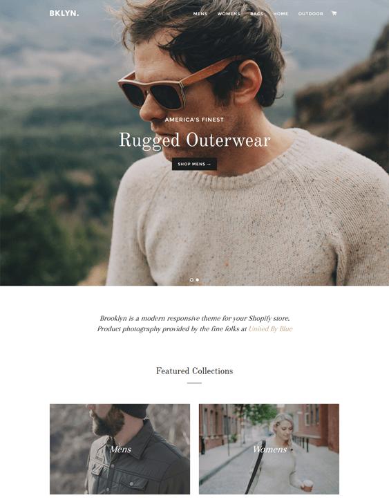 brooklyn minimal shopify theme