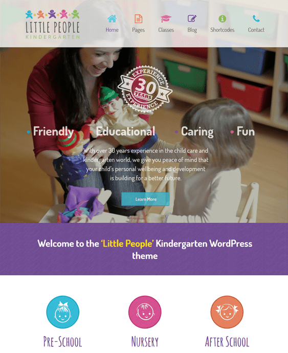 little people education wordpress theme