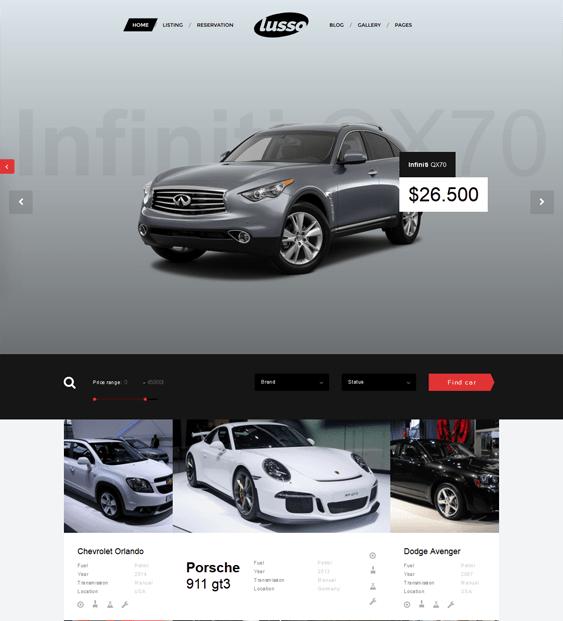lusso car vehicle automotive wordpress theme