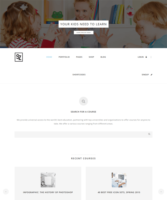 suarez education wordpress theme