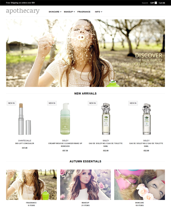 apothecary health beauty shopify theme