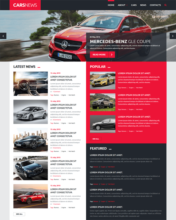 car news car vehicle automotive joomla templates