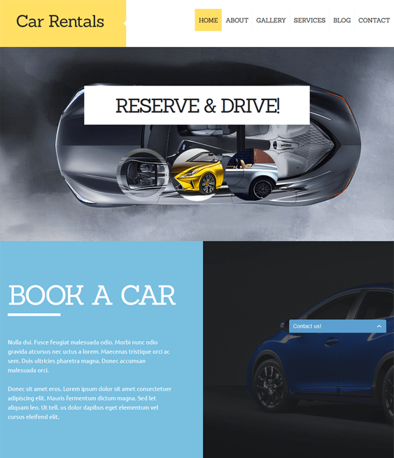 car rental car vehicle automotive joomla templates
