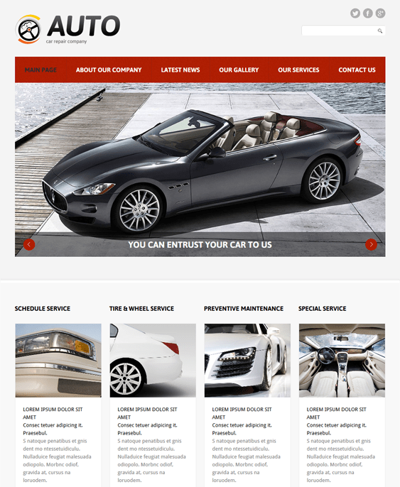 car repair car vehicle automotive joomla templates