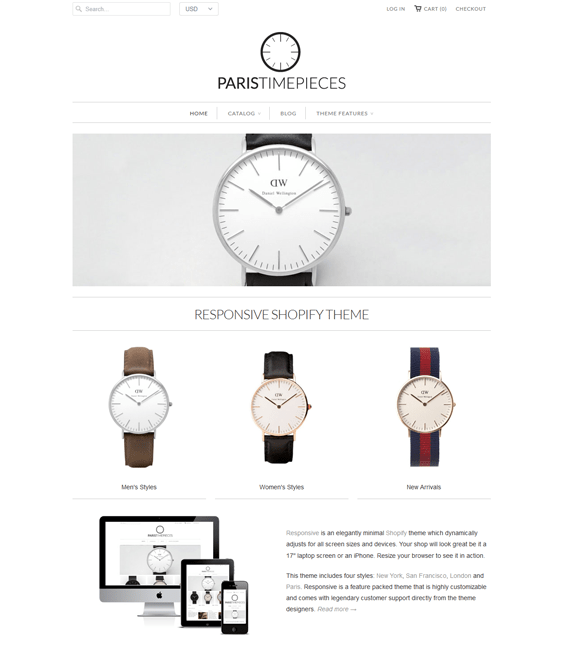 paris watch jewelry shopify theme