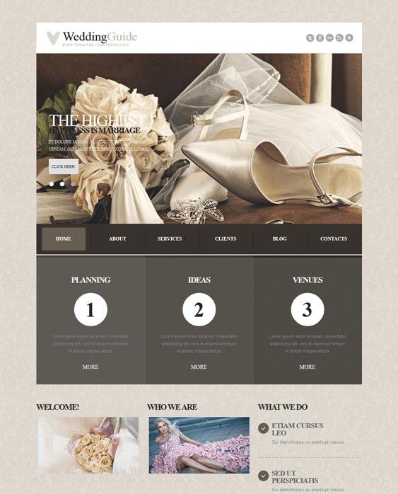 wedding joomla templates planner