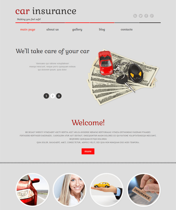 car vehicle automotive wordpress themes insurance