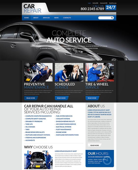 cars car mechanic repair shop wordpress themes