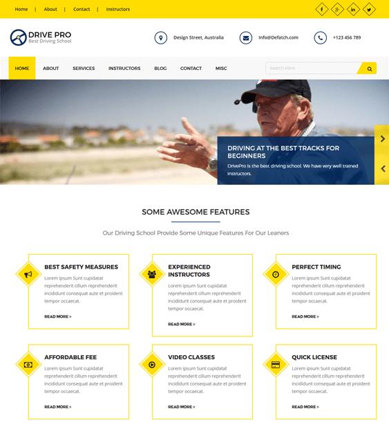 drive pro education wordpress themes