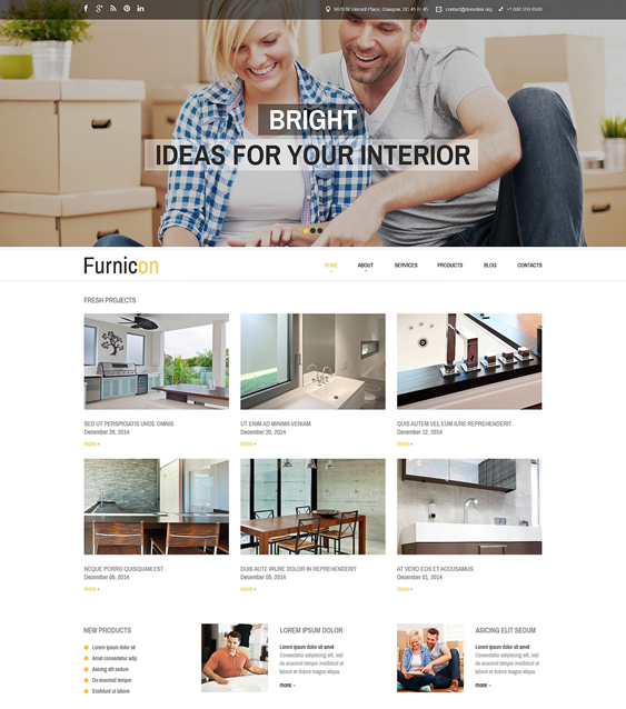 interior design clean drupal themes