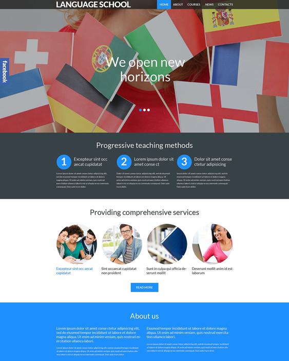 language school education wordpress themes