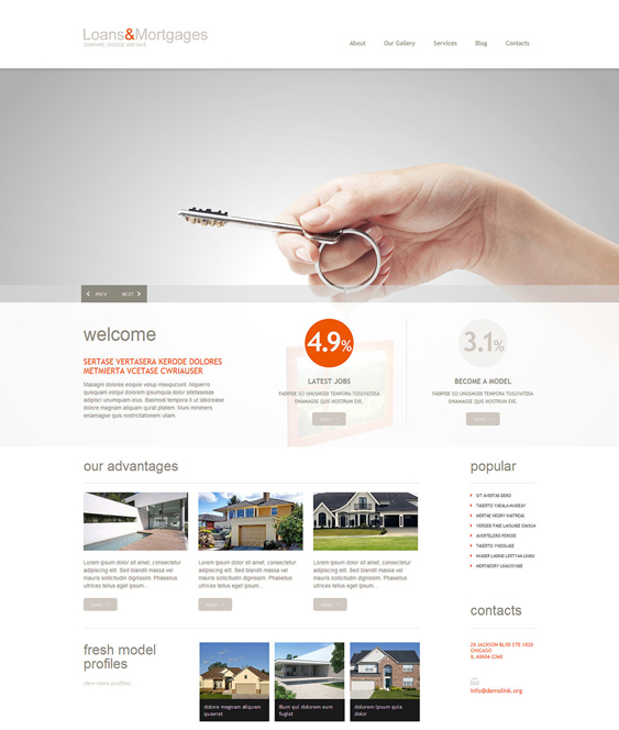 loans mortgages wordpress themes