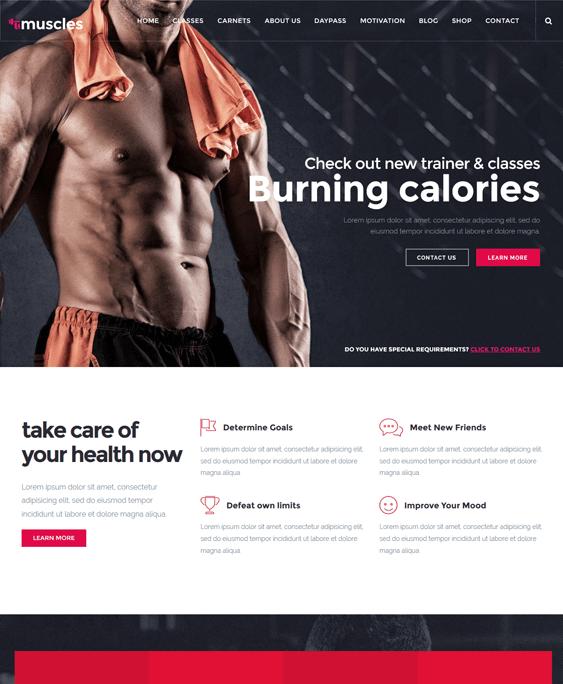 pro gym fitness wordpress themes