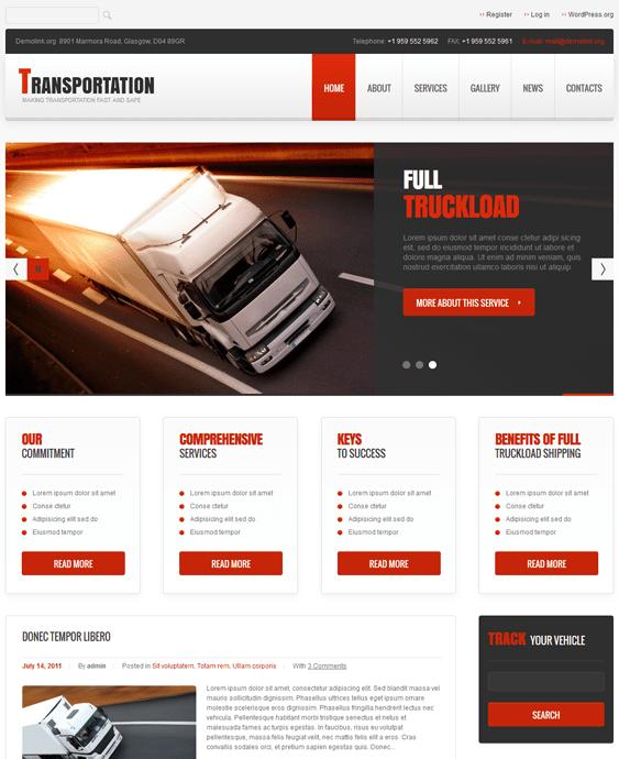 transportation wordpress themes responsive