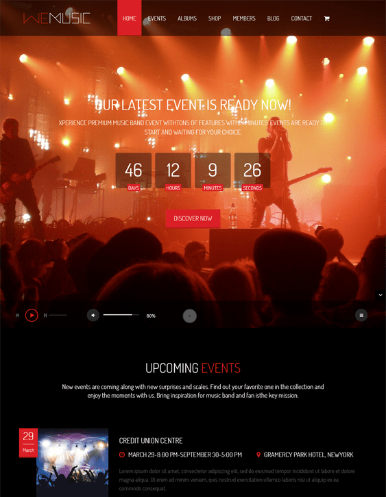 wemusic events wordpress themes