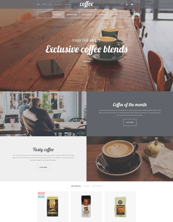 coffee house responsive shopify themes