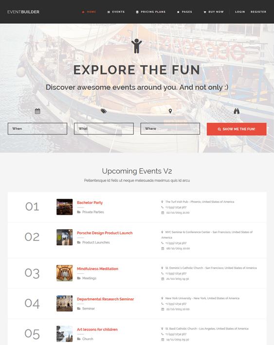 eventbuilder directory wordpress themes