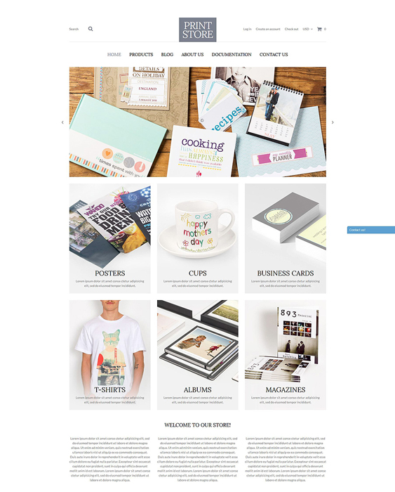modern print stationery shopify themes