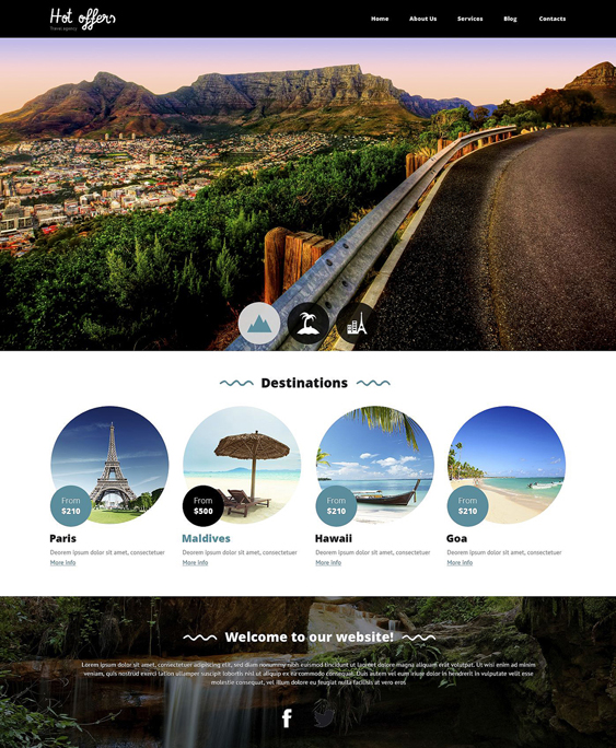 travel drupal themes agency responsive