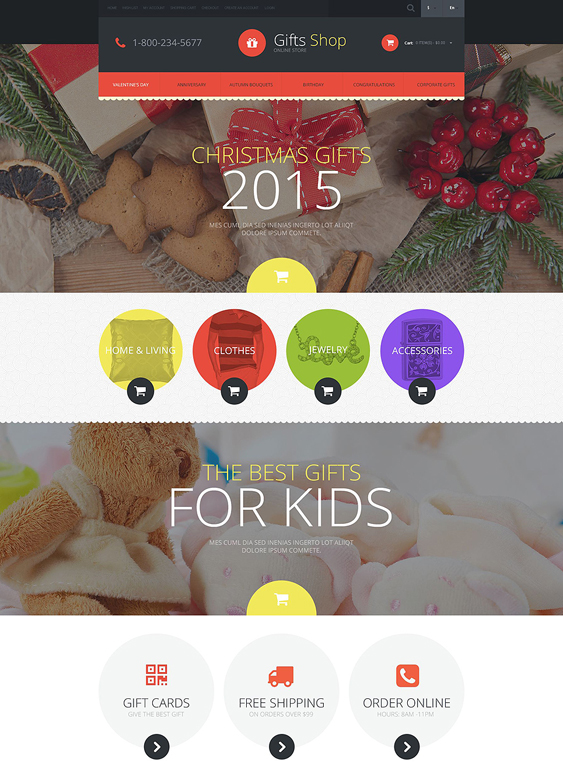 gifts kids shopify theme