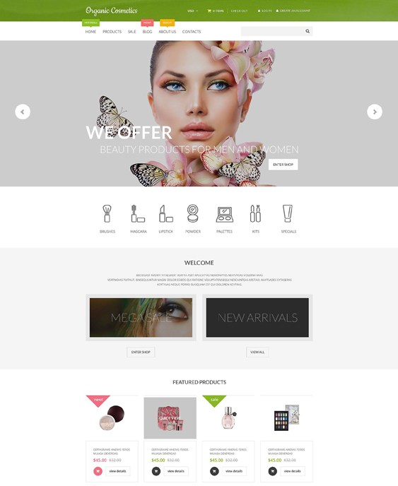organic responsive shopify themes