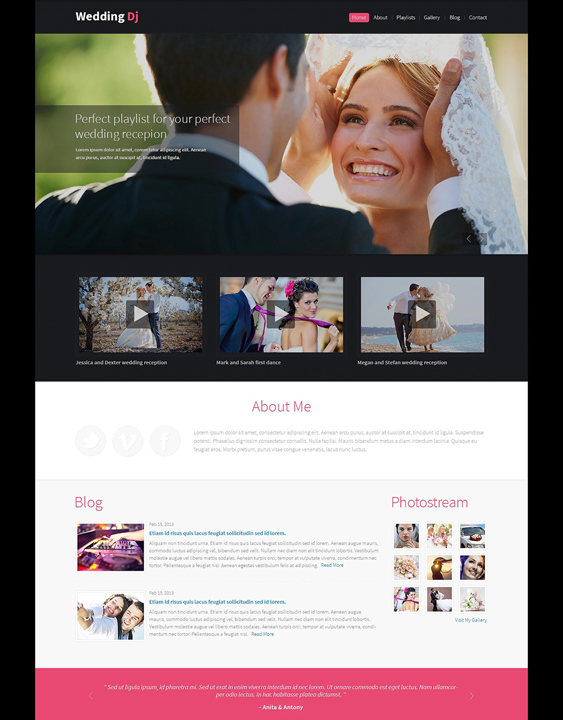 wedding drupal themes planner1