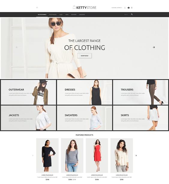 apparel minimal virtuemart themes