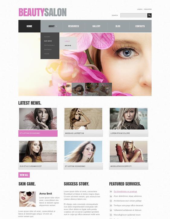 beauty salon spa joomla templates 3