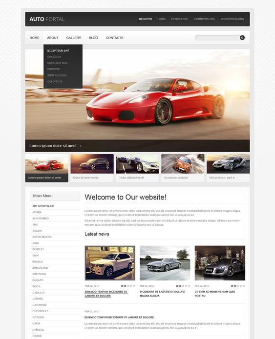car vehicle automotive wordpress themes 3