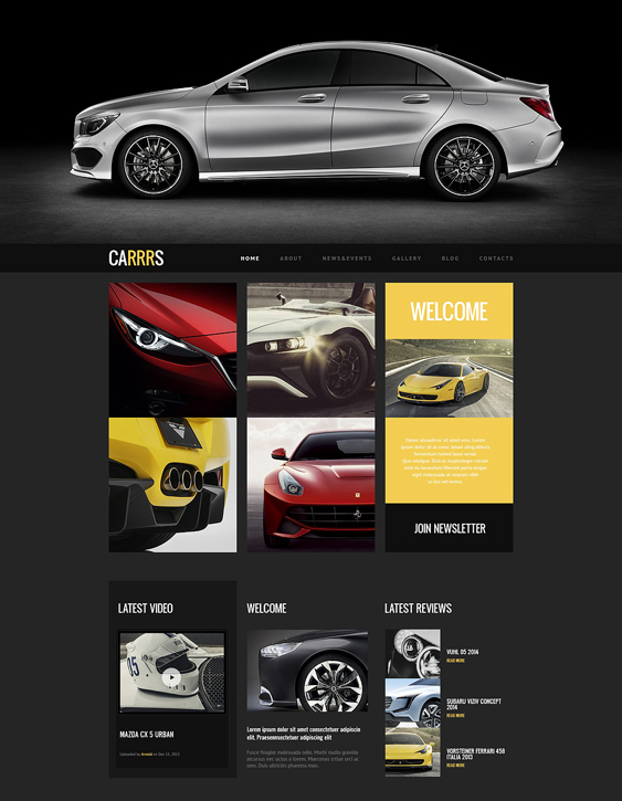 car vehicle automotive wordpress themes for proper