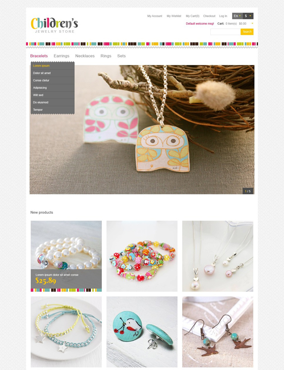 childrens kids magento themes