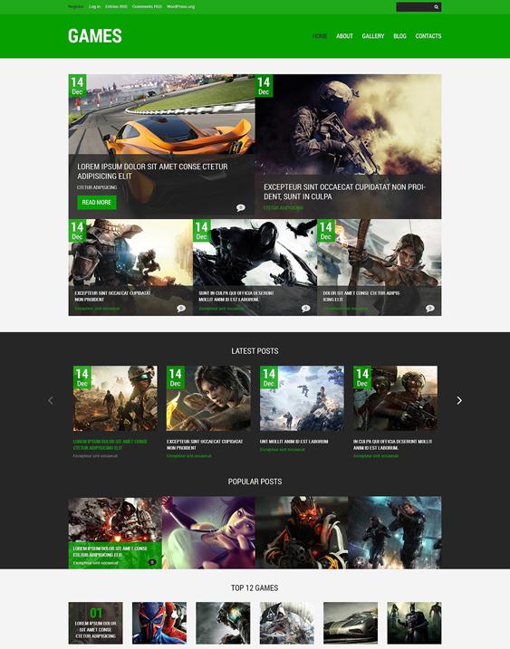 games gaming wordpress themes 2
