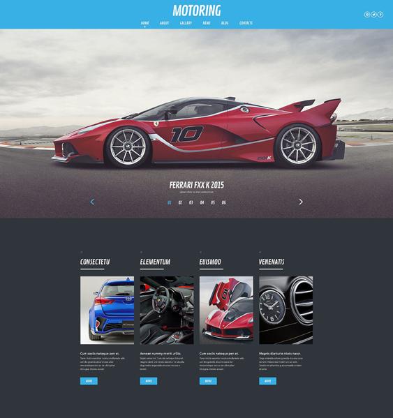 motoring car vehicle automotive wordpress themes
