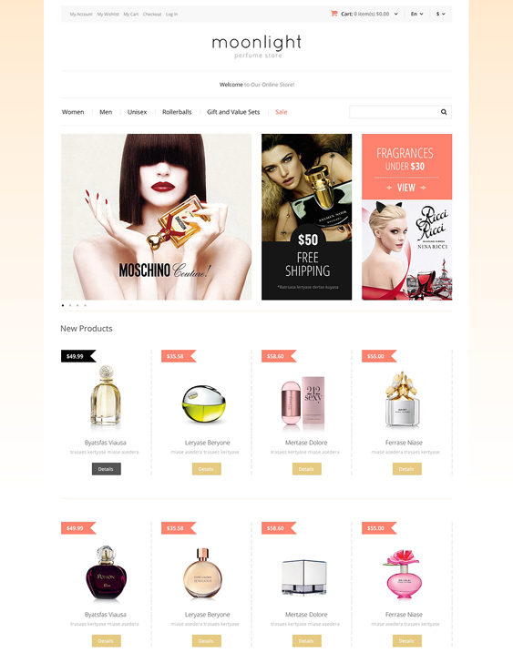 perfume hair beauty magento themes