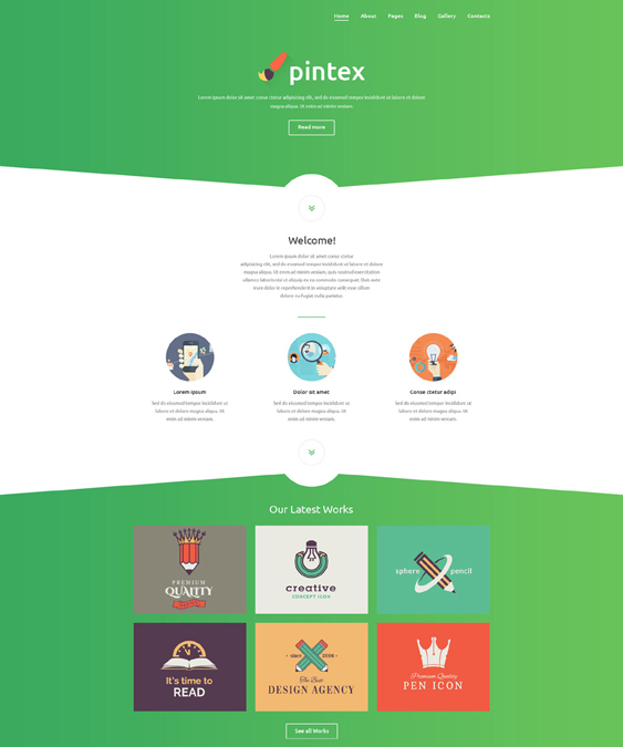 pintex one page joomla templates